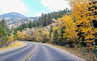 Photo of Estes Park in Fall on the Highway near Fall River.